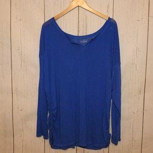 Lane Bryant Blue Long Sleeve Tshirt